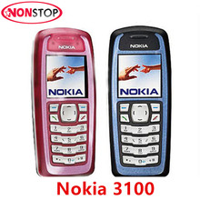 Original Nokia 3100 GSM 2G Unlocked Cheapest Refurbished Nokia Cell Phone Free shipping(China)