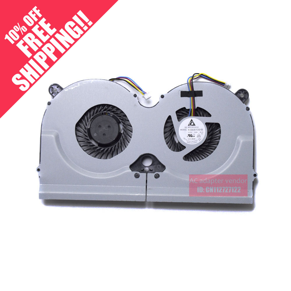 New  FOR delta KSB06105HB-BL2Q 5V 0.40A laptop dual fan<br>