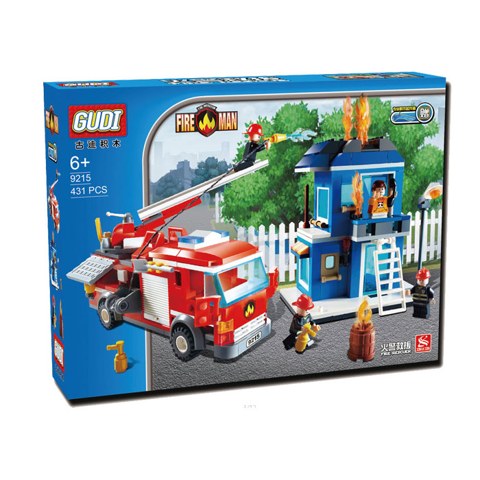 GUDI 9215 City Fire Man The Fire Rescue figureset Building Block 431Pcs Bricks Toys Best Toys Compatible with brick kid gift <br><br>Aliexpress