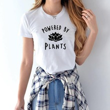 Buy 2018 Vegetarian Vegan POWERED BY PLANTS Fashion T Shirt Women Harajuku Tumblr Cute Tumblr Femme Funny Female T Shirt Tops for $5.88 in AliExpress store