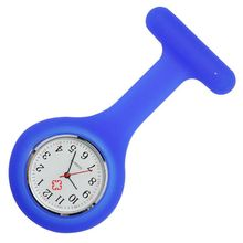 Nursing Medical Hanging Watch Pattern Plain Silicone Nurse Fob Watch Brooch Tunic Watches(China)