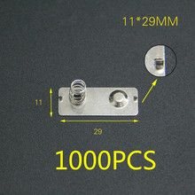 Hot 1000PCS AA No. 5 battery chip 11*29MM spring contact piece battery box positive and negative monopolar battery