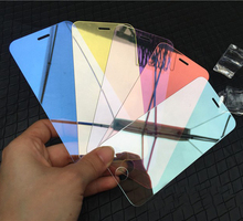 Color Mirror Screen Protector film For iPhone 7 7plus 6 5 5S 5C SE 6s plus Luxury Colorful Mirror Case Cover Tempered Glass