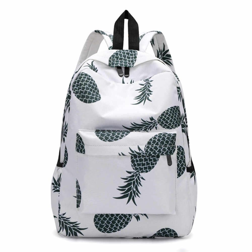 d8516c35a89 High Quality Backpack Female Pineapple Print Schoolbag Backpack School Bags  Travel Mochila Escolar Schoolbag DropShipping