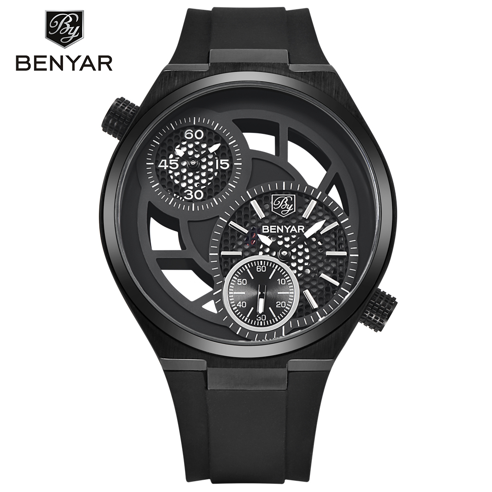 Fashion Hollow Sports Military Watches Big Dial Design Waterproof Mens Watches Top Brand Luxury Quartz-Watch Relogio Masculino<br>