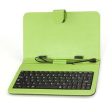 5pcs/lot Green Case Cover Keybaord Stand for 7 inch Micro USB Tablet MID(China)