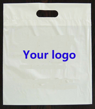 wholesales 500pcs/lot customized company logo printing plastic packaging shopping bags