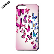 For IPHONE 4 5 5S SE 6 6S 6+7 7+ Beautiful Butterfly Designs of Mobile Phone Shell Covers BTF100 Brand NOSIB  Custom Made Cases