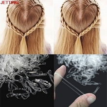 JETTING-200/500Pc Hair Accessories Mini Braid Plaits Elastic Tie Band Ponytail Holder Elastic Rubber Clear Girl hair Accessories