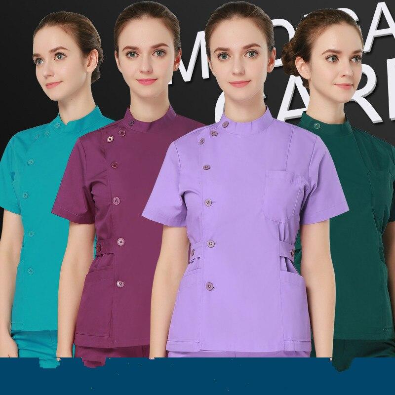 wholesale uniformes hospital women medical clothing nursing scrubs clothes set dental clinic beauty salon nurse surgical suit