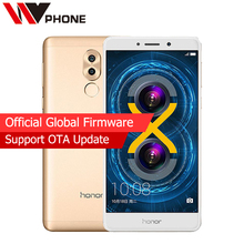 Original Huawei Honor 6X 3GB RAM 32GB ROM LTE Mobile Phone Hisilicon Kirin 655 Octa Core Dual Rear Camera 5.5 inch 1920x1080P
