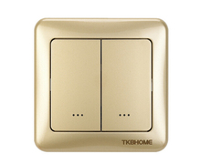 Zwave Wireless Radio Frequency Controlled Z-Wave Dual paddle Wall Dimmer Switch TZ35D with 868.42MHz