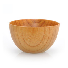 Direct sale of factories chinese/asian/European style whole wood Match Rice/Noodles/Sushi/Food/Sugar/Soup wood bowl 11.5*7cm(China)