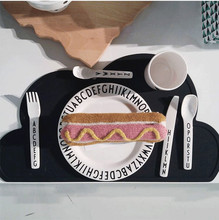Silicone Placemat 47x27cm FDA  Bar Mat Baby Kids Cloud Shaped Plate Mat Table Mat Kitchen Pads heat resistant silicone table mat