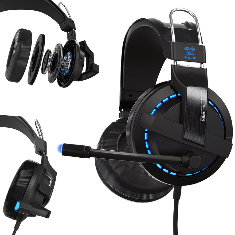 HL USB 7.1 Surround Stereo Gaming Headset Headband Headphone with Mic for PC AUG 23  E22<br>