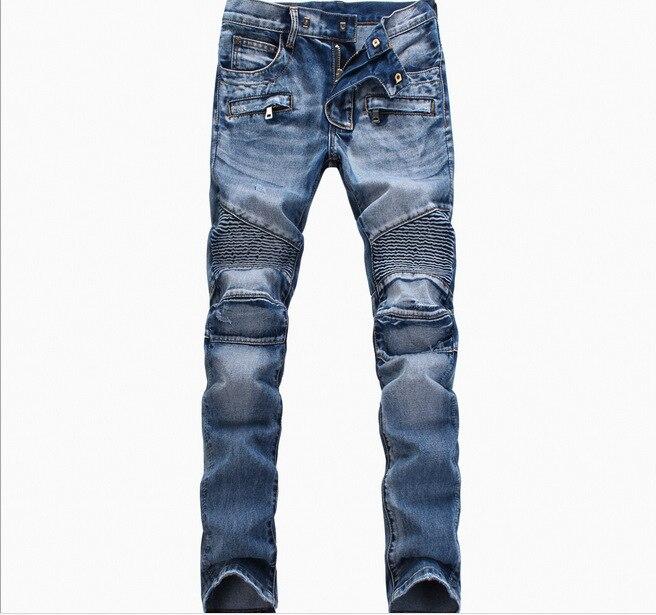 Fashion Men Jeans New Arrival Hip Hop Design Slim Fit Fashion Biker Jeans For Men Good Quality Blue Black Plus Size 28-40 ,YA141Одежда и ак�е��уары<br><br><br>Aliexpress
