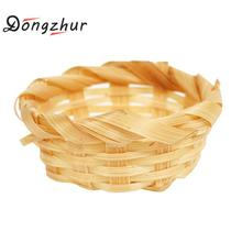 Dongzhur Bamboo Baskets Dollhouse Miniatures 1:12 Accessories Bath Supplies Pure Dollhouse Miniature Handmade Bamboo Baskets(China)