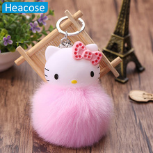 cute Hello Kitty plush toy cat dolls key chain car bag decorative pendant for women super soft plush ornaments gifts cushion