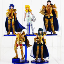 5pcs/lot 14cm Anime Saint Seiya Figure Toy Gold Saint Myth Cloth Shaka Saga Kanon Death Mask Signs of The Zodiac Model Doll(China)