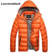 Men Warm Jacket 2016 Brand Parka Padded Hooded Slim Fitness Quilted All-Match Winter Coat Male Big Yards New Down Jacket Men 64