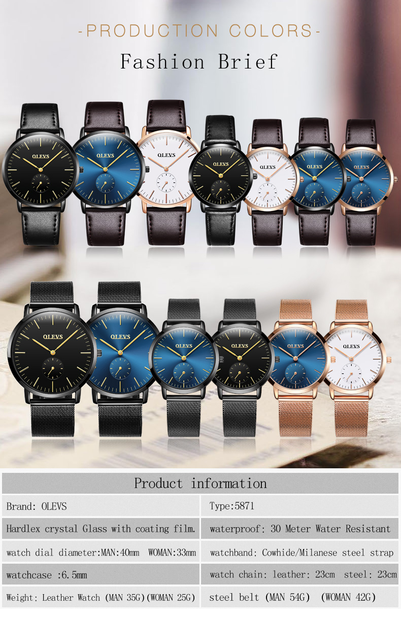 HTB1W3CNSpXXXXakXXXXq6xXFXXX3 - OLEVS Luxury Watches Women's Rose Gold Casual Quartz Watch Stainless Steel Watch Water Resistant Clock relojes hombre 2017 saat