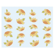 Yellow Sunflower Design Fashion New Style 1 Sheet Water Transfer Stickers DIY Nail Art Decorations Nail Decal Nail Tools