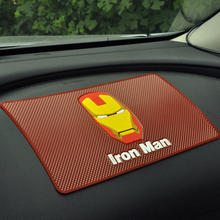 Iron Man car phone mat Car Dashboard Sticky Pad Anti-slip Mat Cell phones non slip for mobile phone gps keys holder Large size