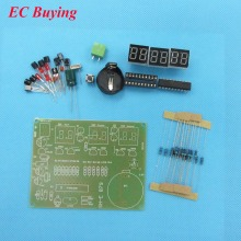 1 piece AT89C2051 Electronic Clock Digital Tube LED Display Suite Welding Module Parts and Components DIY Kit DC 9V - 12V