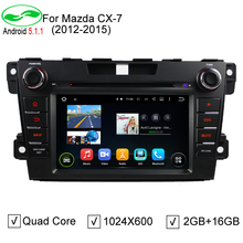 HD 1024*600 ROM 16GB Quad Core Android 5.1.1 Car DVD Player For Mazda CX-7 CX7 CX 7 Stereo Radio 4G WiFi GPS Navigation
