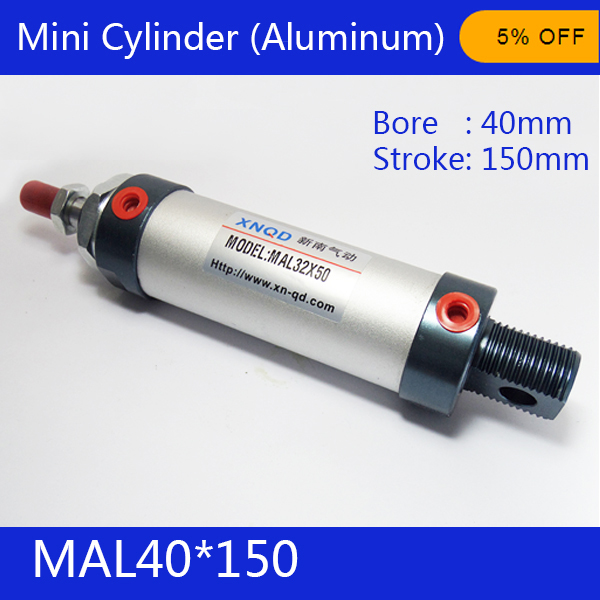 Free shipping barrel 40mm Bore150mm Stroke  MAL40*150 Aluminum alloy mini cylinder Pneumatic Air Cylinder MAL40-150<br><br>Aliexpress