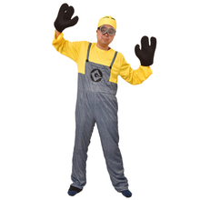 New Arrival Men Minion Cosplay Costume Male Jumpsuit Fancy Party Set Adult Playful Suit Halloween Birthday Gift Performance(China)
