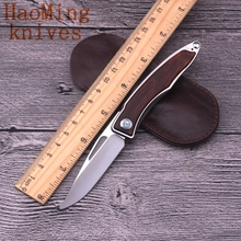 Camping survival folding knife M390 blade serpentine wood titanium handle brand practical portable knives tactical EDC tools OEM