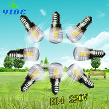 yioe Bright E14 2W Screw Base 3014 SMD 24 LED Glass Shade Light Lamp Bulb Pure Warm White 220V For Sewing Machine Refrigerator