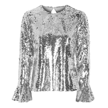 Chic Shirt High Fashion Sequined Womens Tops Blouse blusa feminina Toppers Sequins Sparkly Custom Made Street Fashion Party Top(China)