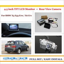 "For BMW X5 E53 E70 / X6 E71 - Car Reverse Rear View Camera + 4.3"" TFT LCD Monitor = 2 in 1 Parking System"