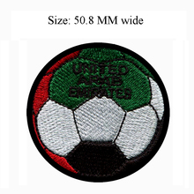 50.8MM wide United Arab Emirates flag patch of soccer ball football shipping to for applique sewing/clothes iron/cloth patch(China)