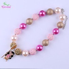 Fashion Jewelry Cordial Design Chunky Bubblegum Beads Necklaces & Pendants Cartoon Character Princess Pendant Choker Necklace