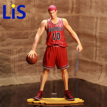 Lis Anime Games SLAM DUNK Sakuragi Hanamichi PVC Action Figures Collection Model Toys Doll 28cm Free Shipping