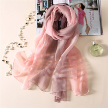 Vanled 2017 luxury brand women scarf striped elegant silk scarves shawls lady pashmina fashion wraps bandana foulard femme hijab