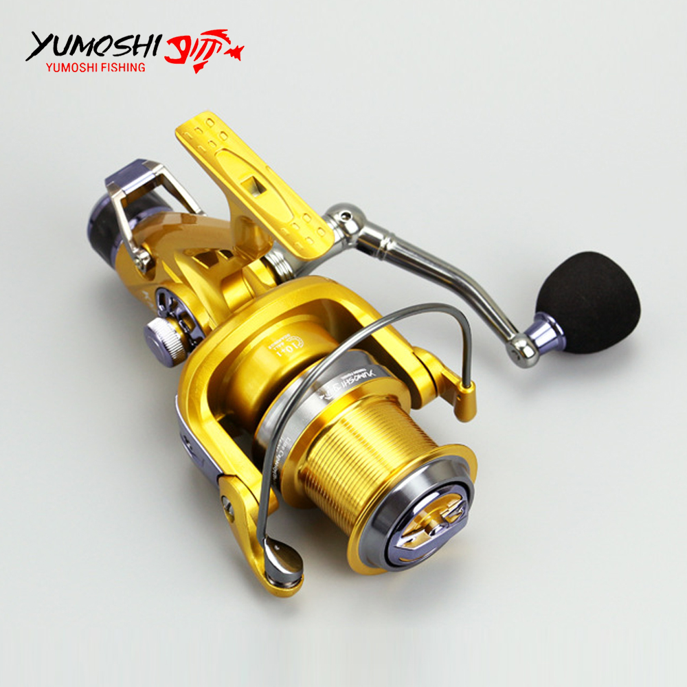 Metal Head Fishing Reel Double Brake Front/Rear Carp Fishing Feeder 11BB Spinning Reel 5.2:1 Quality Fishing Reel <br>