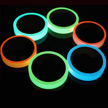 5M Glow Luminous Tapes Warning Stripes Glow in The Dark Emergency Lines Vinyl Wall Sticker Fluorescent Luminous Strip Sticker(China)