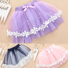 New fashion girls skirts baby ballerina skirt childrens chiffon fluffy kids casual tutu skirt Summer skirt short Candy Color