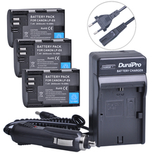 3pc LP-E6 LP E6 LPE6 LP-E6N Rechargeable Battery+Car Charger+AC Cable For Canon LP-E6 EOS 5DS R 5D Mark II 5D Mark III 6D 7D 80D(China)