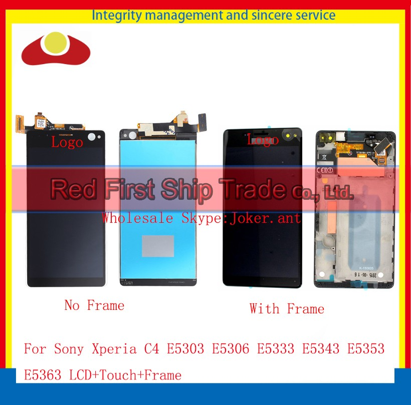10Pcs/lot DHL For Sony Xperia C4 E5303 E5306 E5333 E5343 E5353  E5363 LCD Display Touch Screen Digitizer Assembly Complete+Frame<br><br>Aliexpress