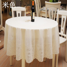 1PCS 180x180cm Hot Buy Printing Lace Tablecloth PVC Round Tablecloth Thickening Round Table Cloth Waterproof And Oil Tablecloth(China)