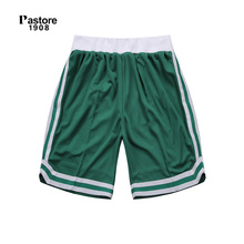 Pastore1908 brand basketball shorts striped quick dry breathable europe size S-4XL custom jersey running sports shorts green303B