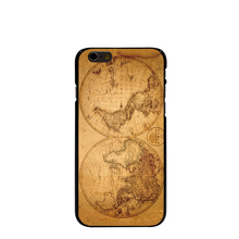 10783 old world antique map travel wood Hard black Cover cell phone Case for iPhone 4 4S 5 5S 5C 6 6S Plus 6SPlus