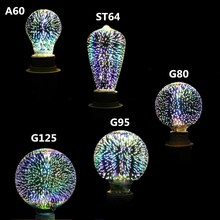 Buy Led Light 3D Bulb Decoration Fireworks Bulb E27 Holiday Lights ST64 G95 G80 G125 A60 Novelty Christmas Bar Lamp Lamparas Bombill for $9.06 in AliExpress store