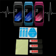 3Pcs/lot Anti Scratch Frosted Smart Watch Protective Films Screen Protector For Samsung Gear Fit 2 Replacement(China)