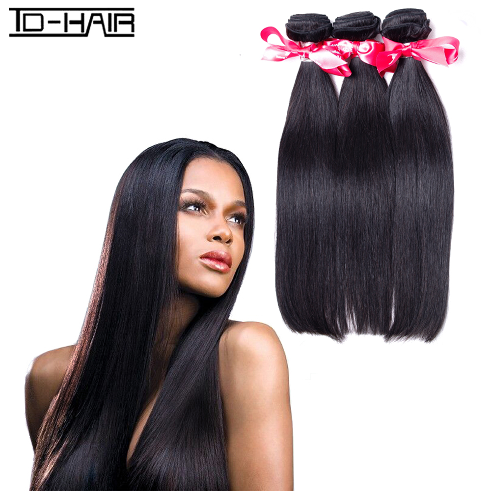 Great 8A Indian virgin hair straight extension bundles human hair weaving Indian hair straight wave weave TD HAIR weaves product<br><br>Aliexpress